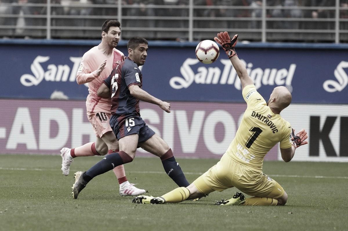 Com dois de Messi, Barcelona fica no empate com Eibar na despedida da temporada do Espanhol