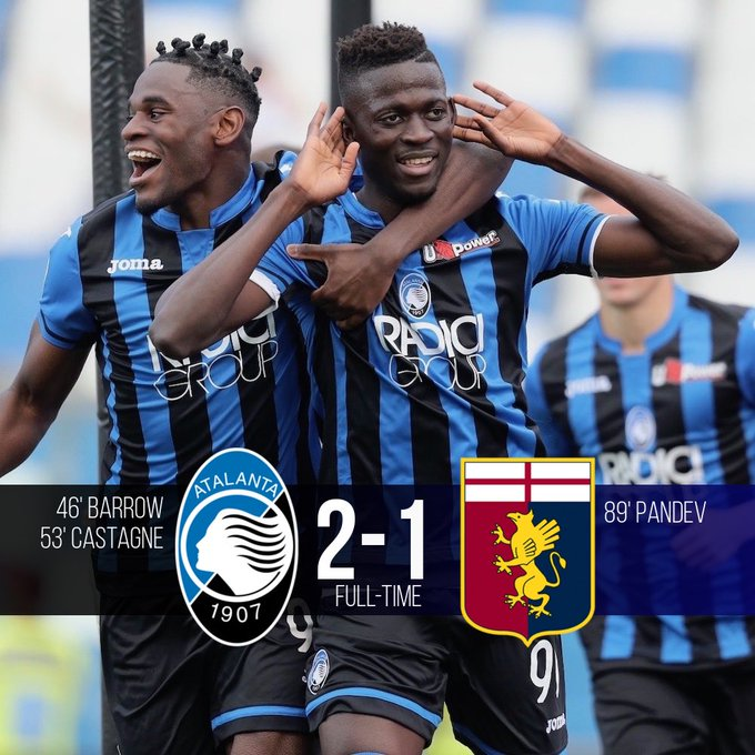 L'Atalanta vince e vede la Champions League: battuto 2-1 un Genoa a rischio retrocessione