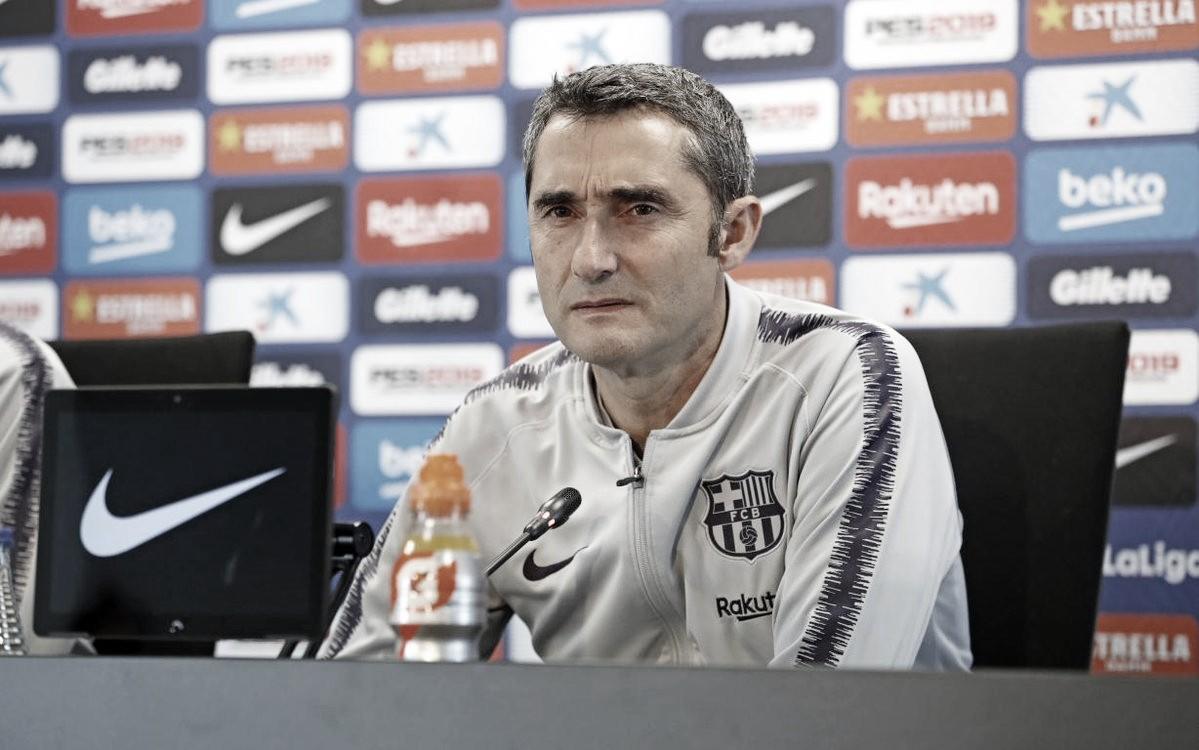 Ernesto Valverde revela que vitória do Barcelona ameniza eliminação da Champions