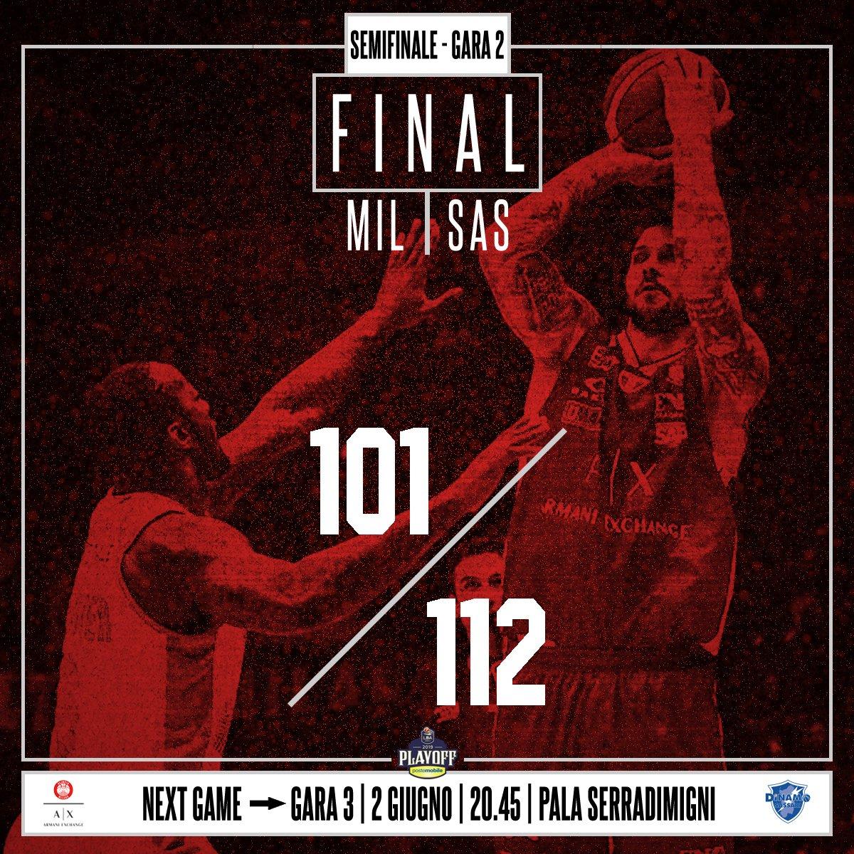 Legabasket, semifinali - Milano non la chiude, Sassari rimonta e vince all'overtime (101-112)