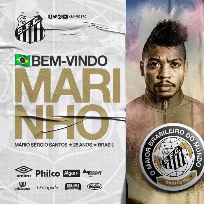 Oficial: Marinho é jogador do Santos