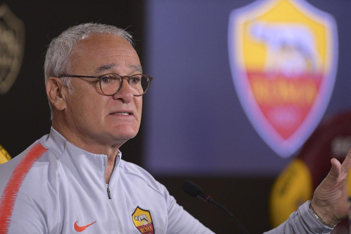 """Roma, Ranieri anticipa la conferenza: """"Questo è un gruppo sano che ha voglia di far bene"""""""