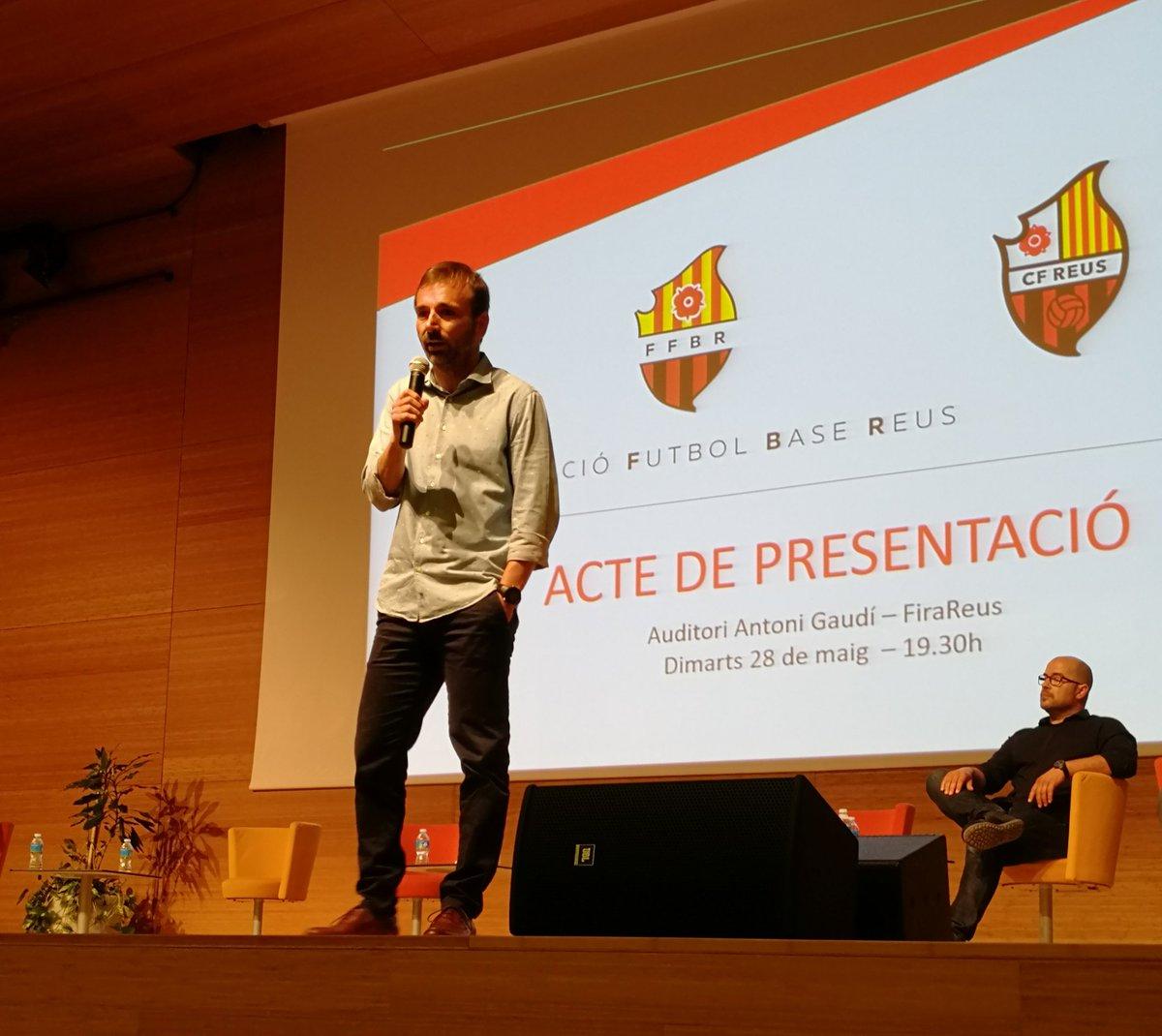 Éxito rotundo en la presentación de la Fundación Fútbol Base Reus