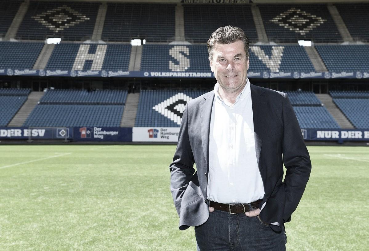 Novo treinador! Dieter Hecking tem a missão de recolocar o Hamburgo na Bundesliga