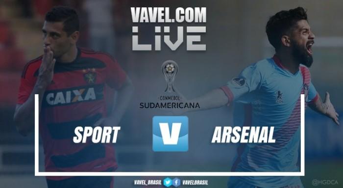Resultado Sport 2x0 Arsenal-ARG na Copa Sul-Americana 2017
