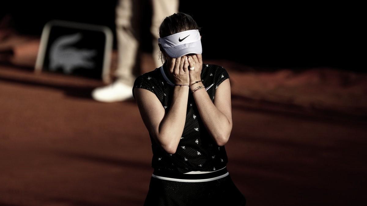 Anisimova atropela Zadoinov e enfrenta Halep nas quartas de Roland Garros