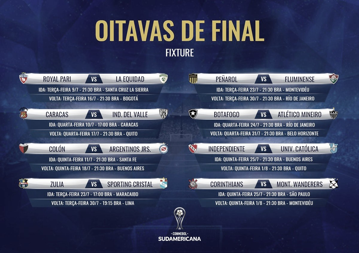 Põe na agenda! Conmebol define datas das oitavas de final da Copa Sul-Americana