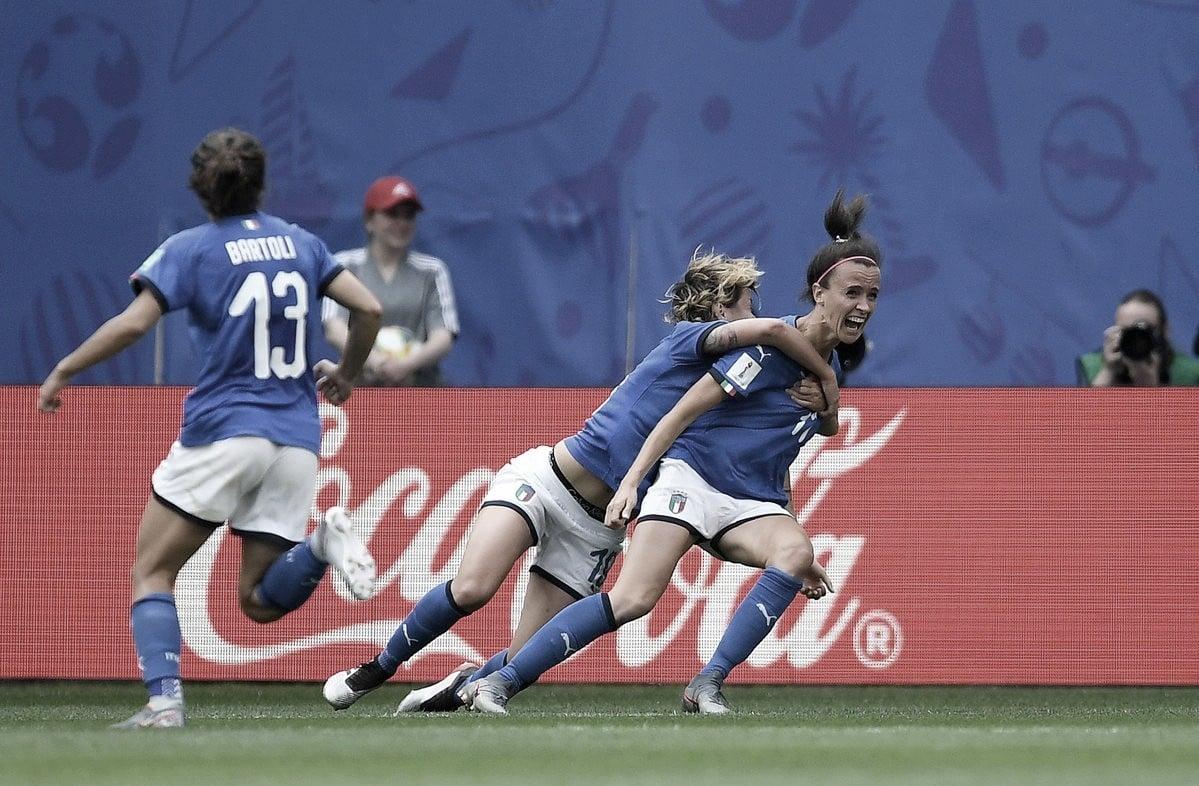 Bonansea marca no fim e Itália vence Austrália de virada pela Copa do Mundo