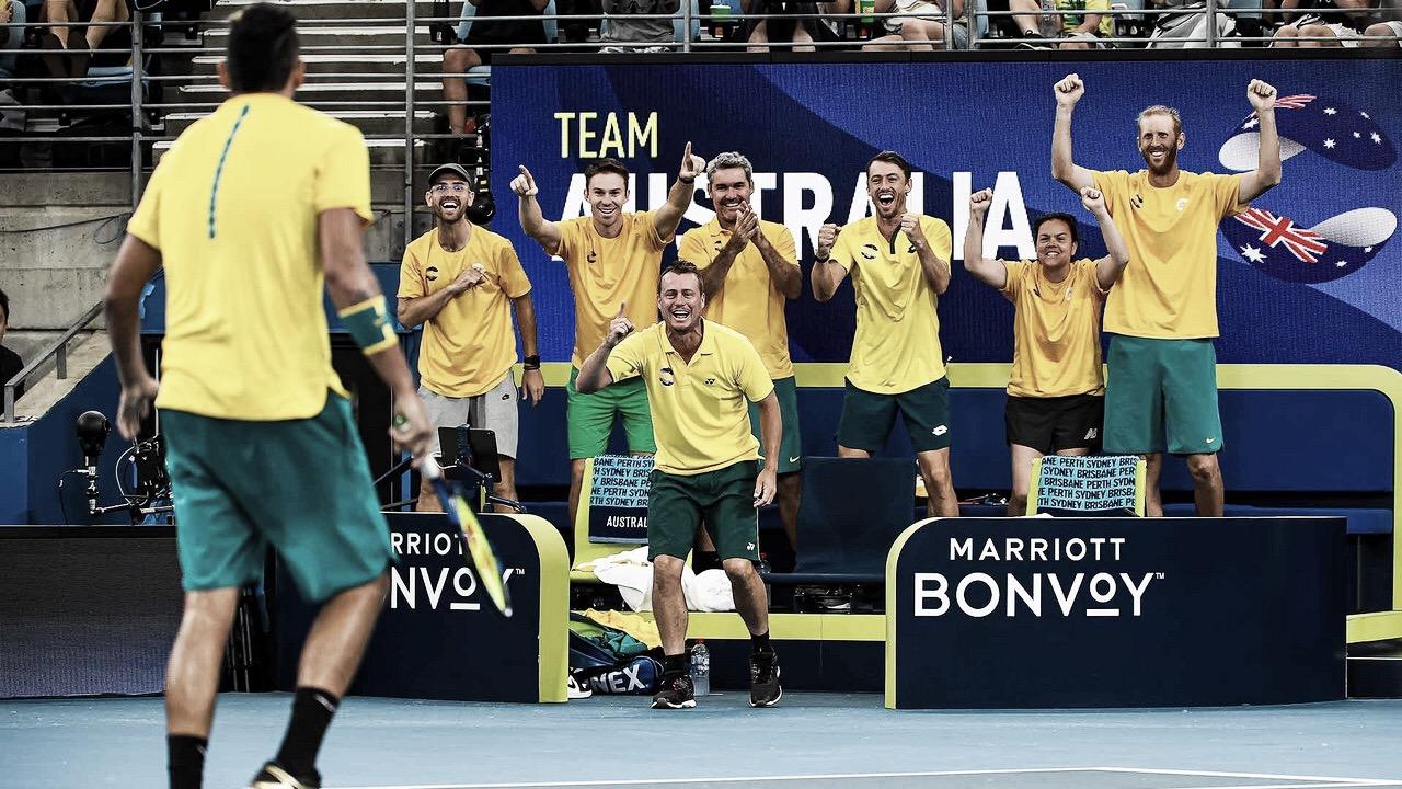 Em confronto repleto de emoção, Austrália bate Grã-Bretanha e vai às semis da ATP Cup