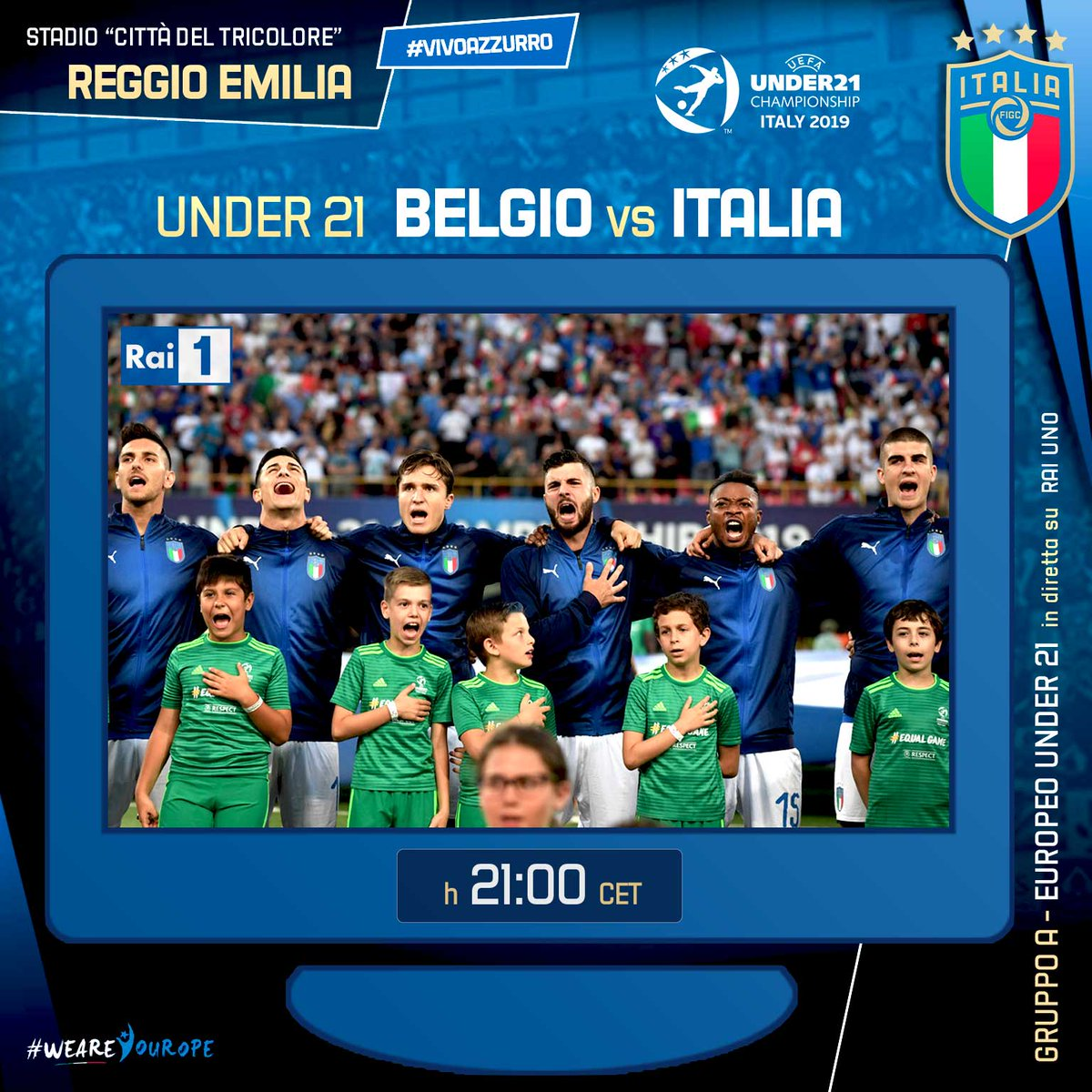 Europei Under 21 - Italia obbligata a vincere contro il Belgio e poi sperare