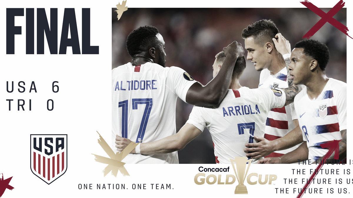 El campeón, EEUU, clasificado a los cuartos de final de la Copa Oro 2019