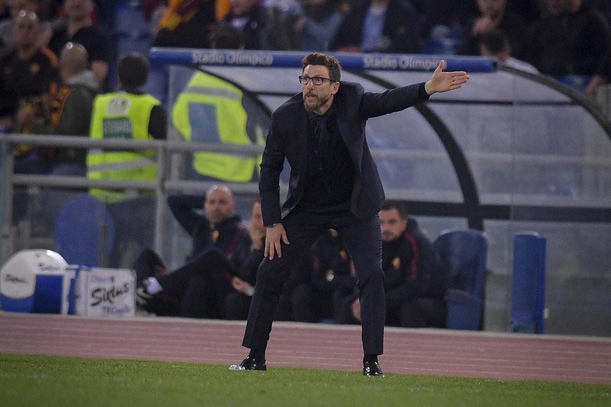 """La Roma pareggia il derby, Di Francesco: """"Oggi ai ragazzi non potevo chiedere più di questo"""""""