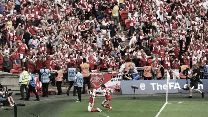 E' trionfo Arsenal sotto l'arco di Wembley: battuto il Chelsea in finale di FA Cup (2-1)