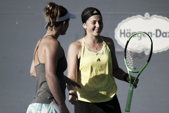 WTA Rogers Cup: Ostapenko rebounds in doubles with Dabrowski, battle past Hozumi/Kato