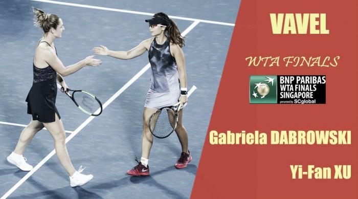 WTA Finals 2017. Gabriela Dabrowski y Yi-Fan Xu: séptimas en clasificar