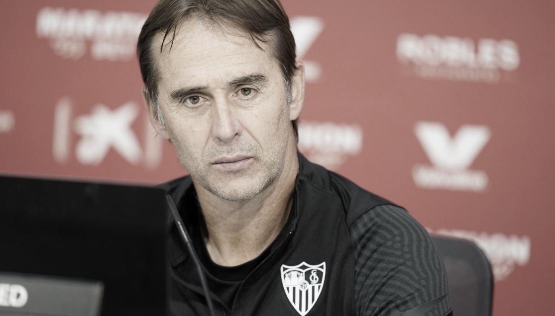 Julen Lopetegui en la sala de prensa previa al partido contra el Athletic / Foto: Laliga