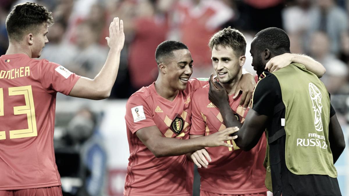 Bélgica bate Inglaterra, termina 100% e fica em primeiro no Grupo G