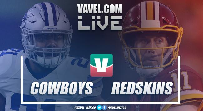 Resultado y touchdowns Dallas Cowboys 17-20 Washington Redskins en NFL 2018