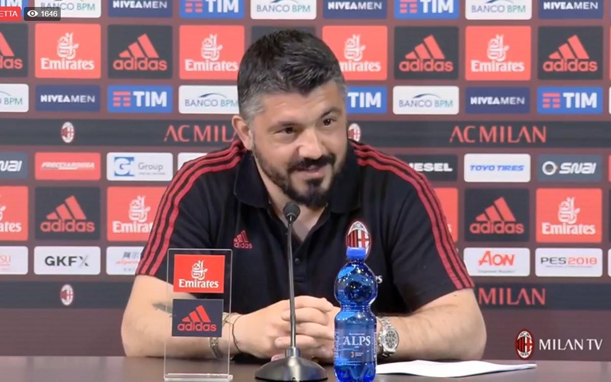 """Milan, Gattuso in conferenza: """"Dopo il rinnovo ho più pressioni. Futuro? Non ci saranno rivoluzioni"""""""