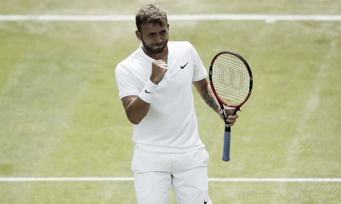 Wimbledon 2016: Dan Evans through to face Roger Federer