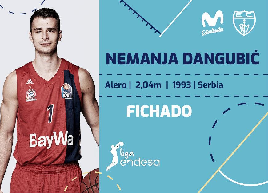 Nemanja Dangubic, tercer refuerzo para el Movistar Estudiantes