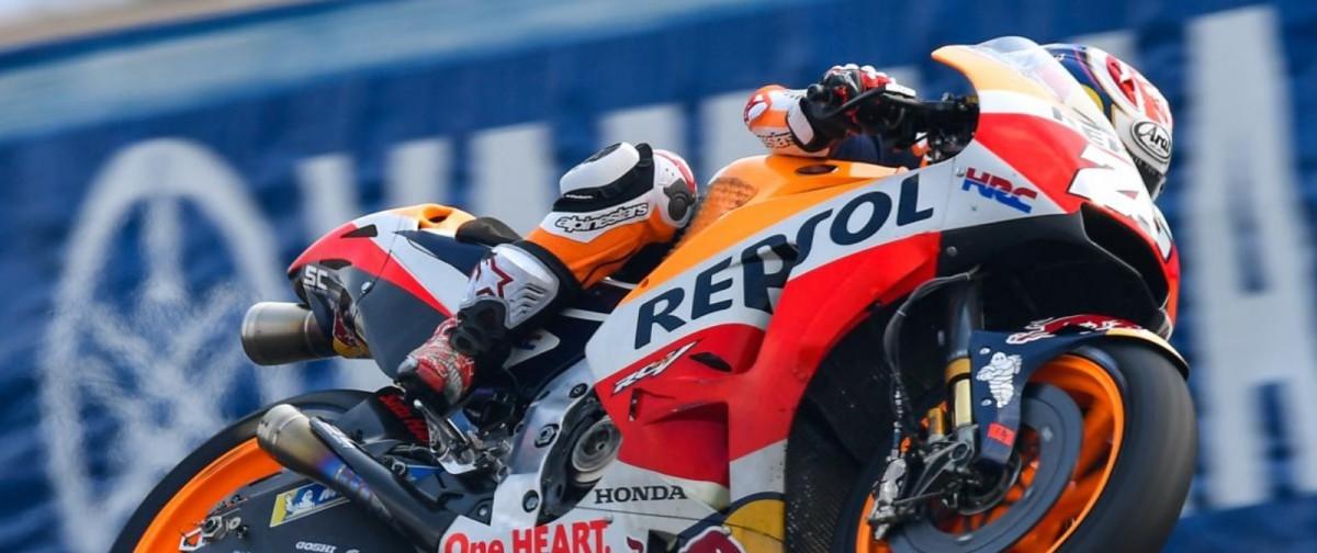 Test MotoGP - A Buriram Pedrosa chiude il dominio Honda: Yamaha e Lorenzo in difficoltà