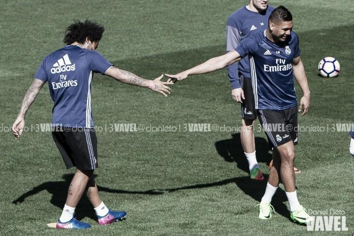 Marcelo y Casemiro ya piensan en Brasil