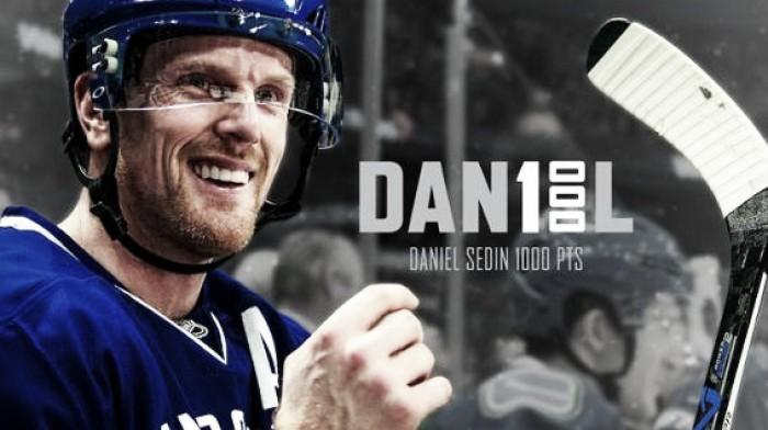 Daniel Sedin alcanza los 1000 puntos en la NHL