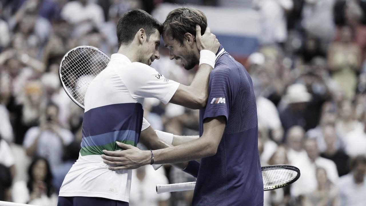 """Após impedir Grand Slam de Djokovic, Medvedev pede desculpas: """"Maior jogador da história"""""""
