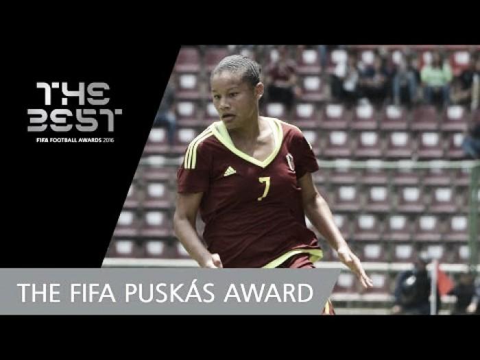 Jovem promessa da Venezuela é a única mulher indicada ao Prêmio Puskás