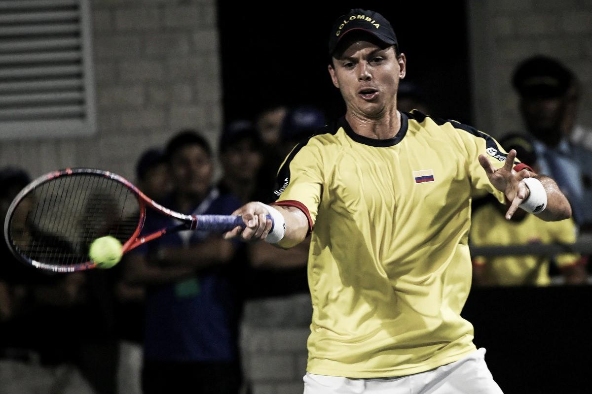 González completó la hazaña y Colombia le ganó Brasil en la Davis