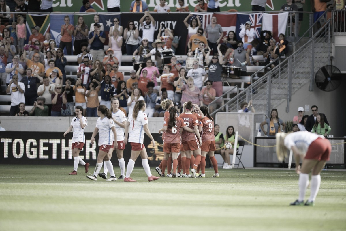 Houston Dash unable to hold onto lead as they split points with Chicago Red Stars