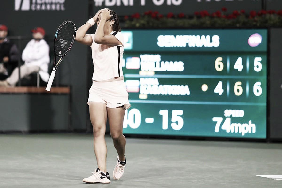 WTA Indian Wells: Daria Kasatkina stuns Venus Williams in marathon thriller