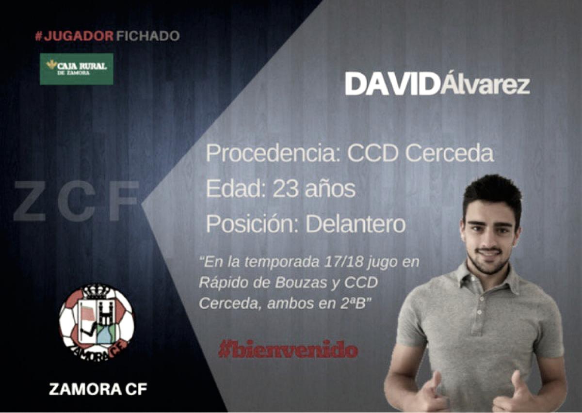 El Zamora anuncia su tercer fichaje: David Álvarez