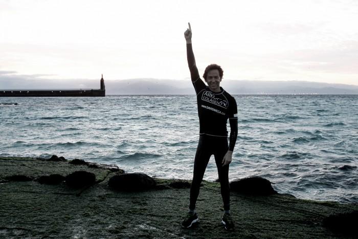 David Meca cruza el Estrecho de Gibraltar por quinta vez