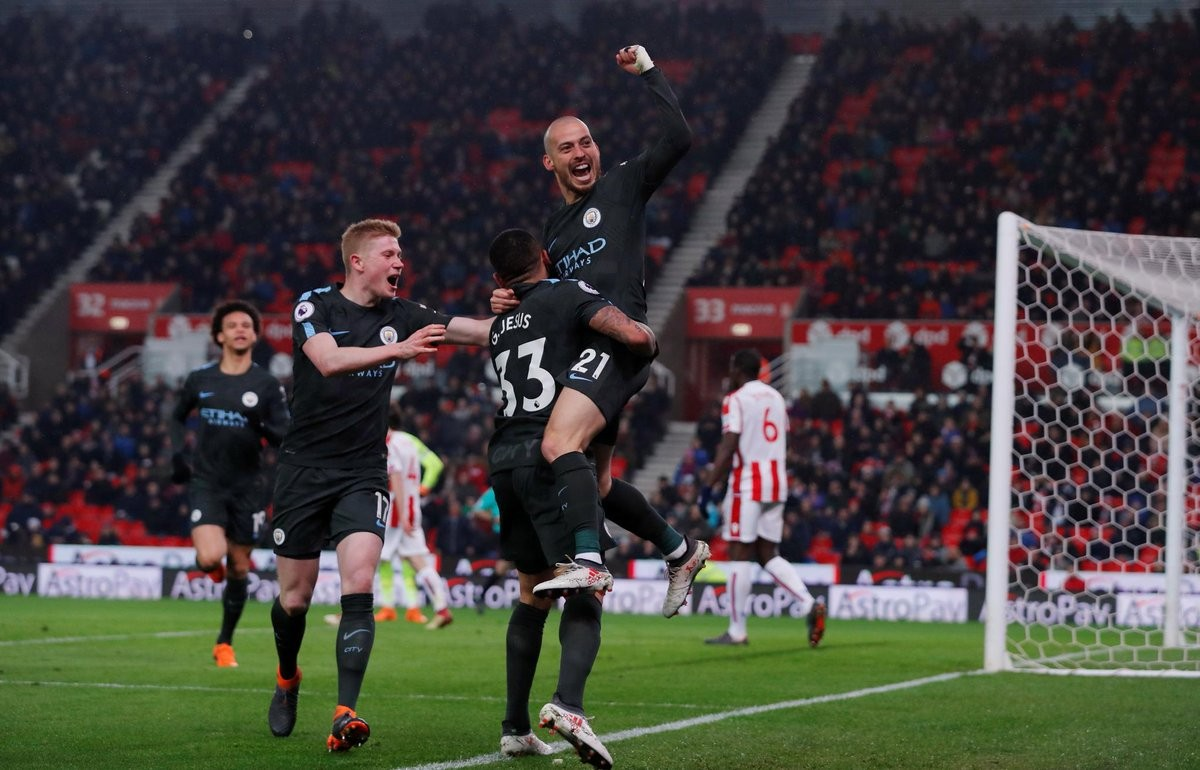 Premier League, Stoke - Manchester City: David Silva giustizia i Potters. Vittoria per i citizens! (2-0)