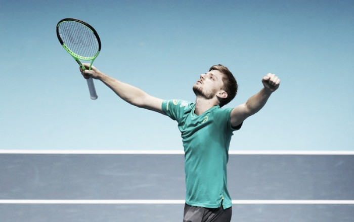 ATP World Tour Finals: David Goffin ousts ailing Rafael Nadal in three sets