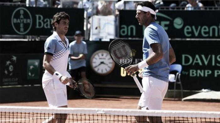 Copa Davis: Del Potro y Pella ganaron el dobles