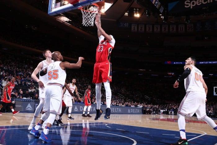 NBA - Harakiri New York Knicks, Davis trascina New Orleans al Garden