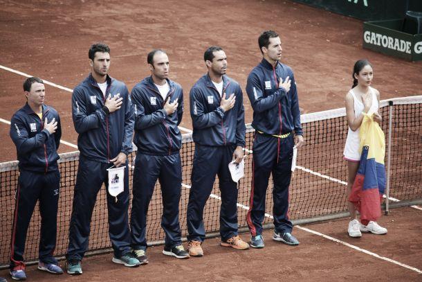 Copa Davis: Colombia - Japón, primer día en imágenes