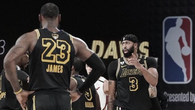 Com grandes atuações de Anthony Davis e Lebron James, Lakers ampliam vantagem sobre Miami Heat