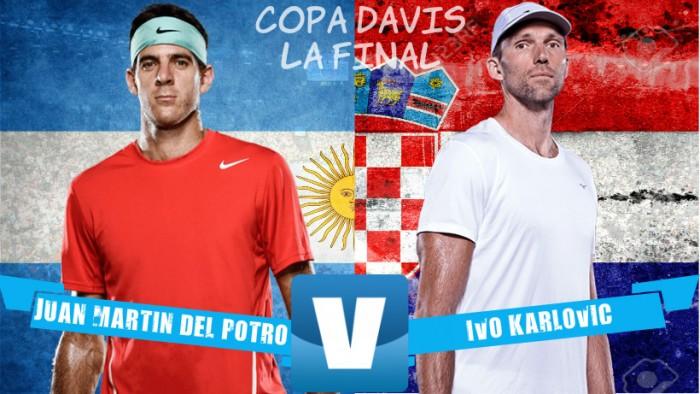 Resumen Del Potro vs Karlovic en la final de Copa Davis 2016