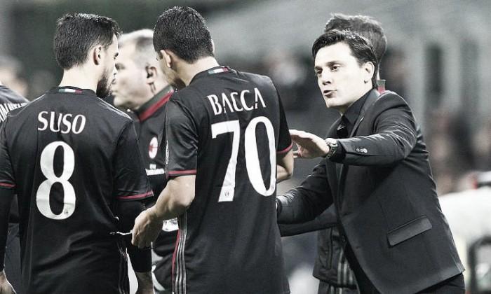 Bologna-Milan, le formazioni ufficiali: Montella lancia Vangioni e conferma Bacca