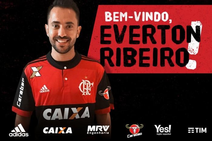 Chegada e apresentação de Éverton Ribeiro no Flamengo AO VIVO