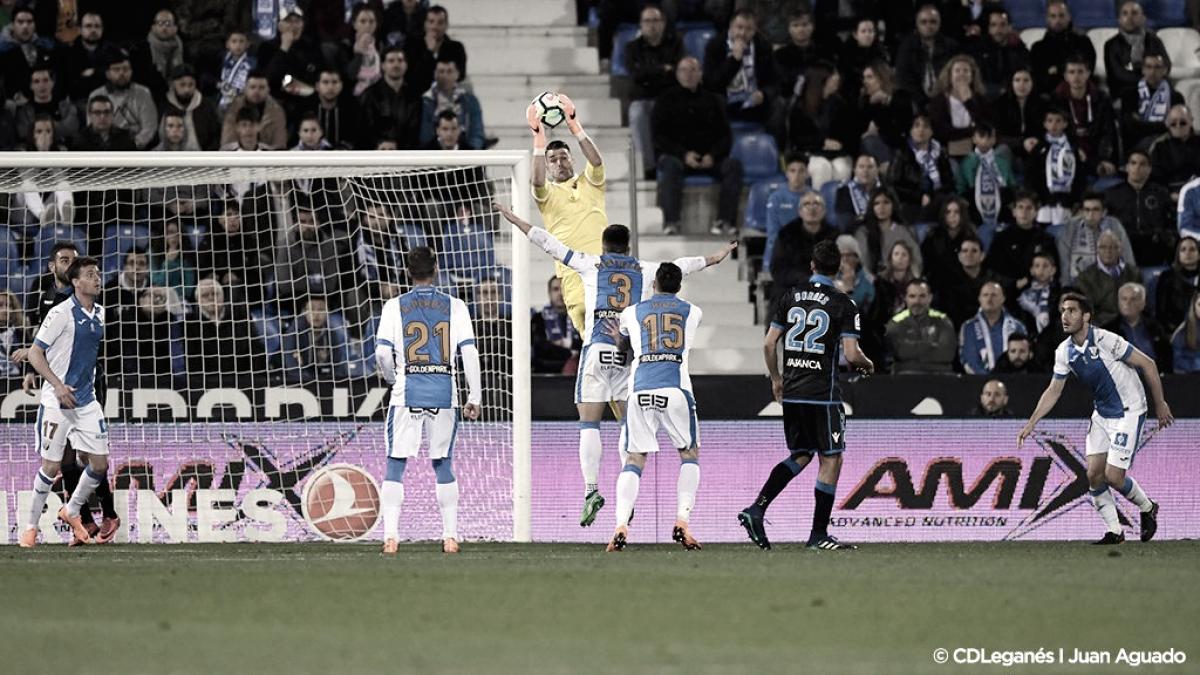 Leganés - Deportivo: puntuaciones del Leganés, jornada 34 de la Liga Santander