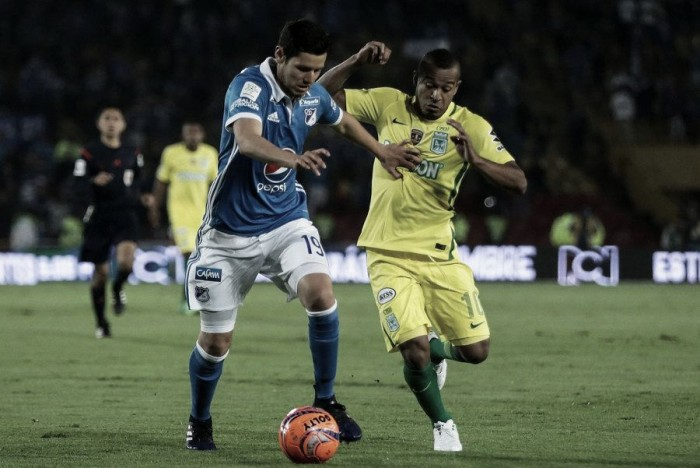 Millonarios y Atlético Nacional en tablas, a todo o nada en Medellín