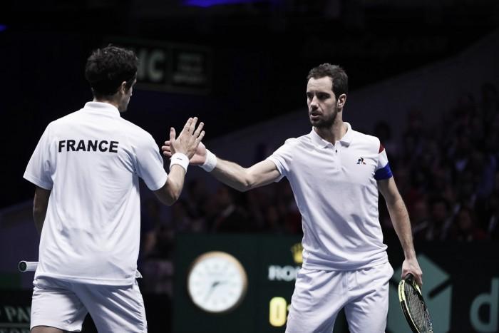 Davis Cup, Francia avanti sul Belgio con il doppio