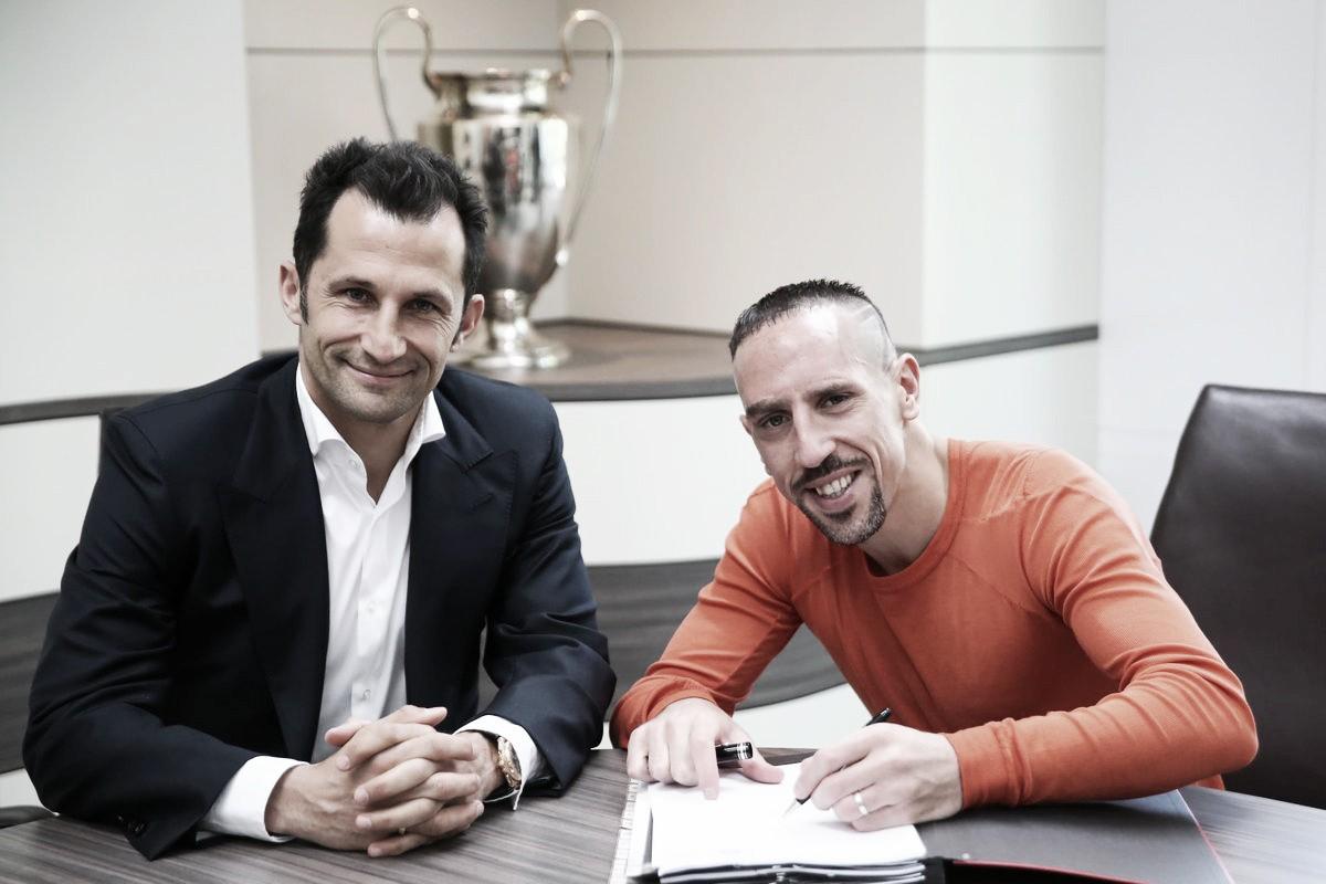 Diretoria do Bayern de Munique anuncia extensão contratual do meia Franck Ribéry