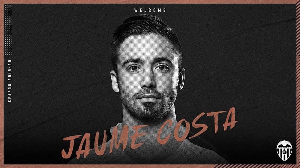 Jaume Costa llega al Valencia en calidad de cedido