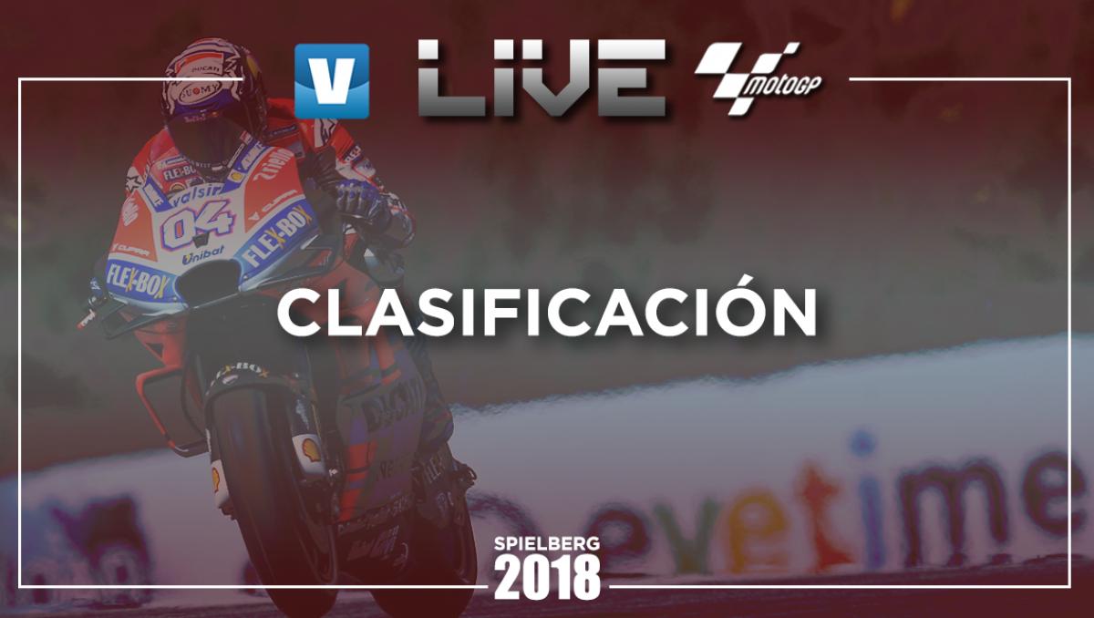 Resumen de la clasificación GP de Austria 2018 de MotoGP